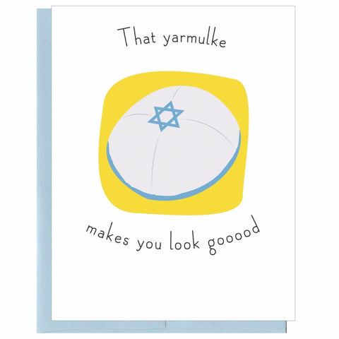 That Yarmulke Makes You Look Gooood! Hanukkah Card by That Guy - ModernTribe
