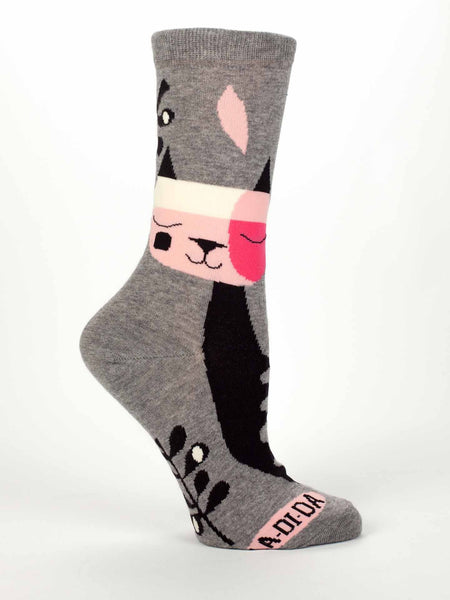 Blue Q Socks Multicolored / One Size / La Di Da La Di Da Cat Socks