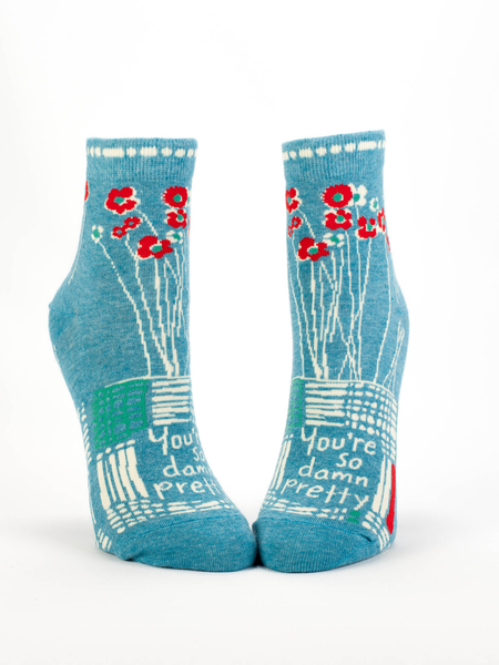 Blue Q Socks Teal Blue / One Size / So Damn Pretty So Damn Pretty Ankle Socks