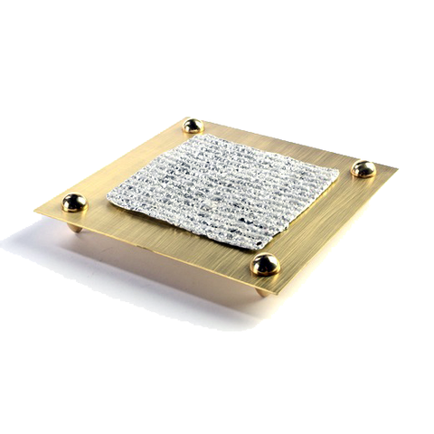 Brass Matzah Plate by Joy Stember by Joy Stember - ModernTribe - 1