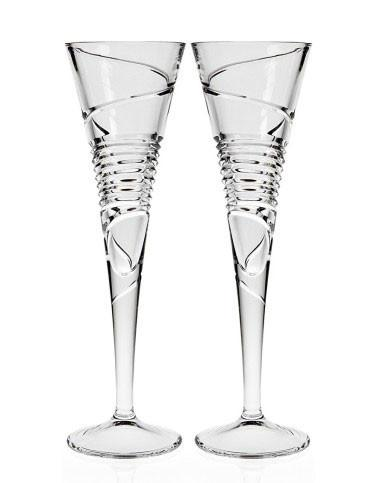 Pair of Crystal Champagne Flutes by Other - ModernTribe