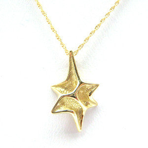 Asymmetrical Gold Star of David Necklace by Other - ModernTribe