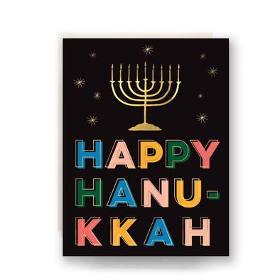 Lights Happy Hanukkah Greeting Cards - Box of 6