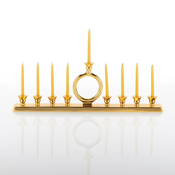O Candle Gold Menorah