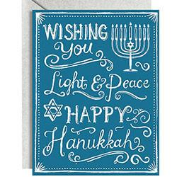 Waste Not Paper Card Hanukkah Chalkboard Greeting Cards - Box of 10 Cards