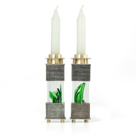 Square Wedding Shards Candleholders by Joy Stember