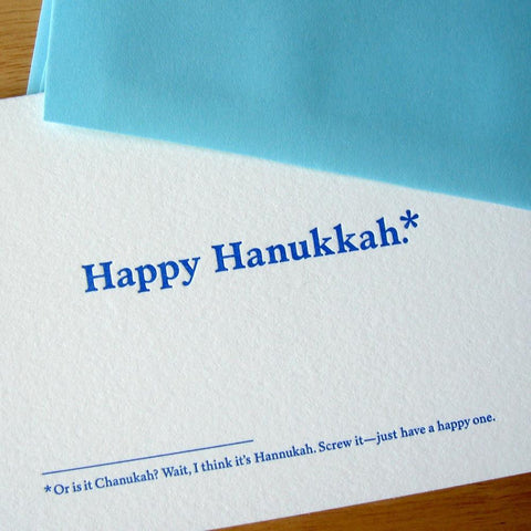 Or is it Chanukah? Wait, I think it's Hannukah. Hanukkah Cards - Box of 6 by Old Tom Foolery - ModernTribe