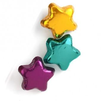 Madelaine Chocolate Candy Dark Chocolate Assorted Stars - 10 Pieces