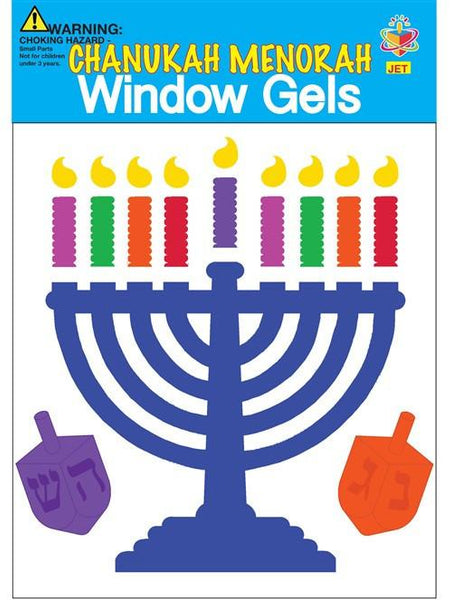 JET Decoration Hanukkah Menorah Window Gels