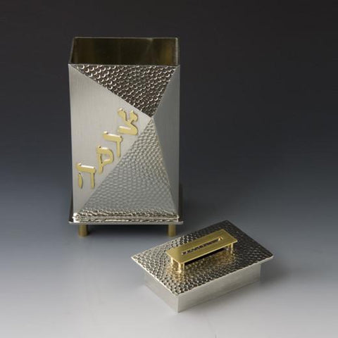 Small Max Tzedakah Box by Joy Stember by Joy Stember - ModernTribe - 1