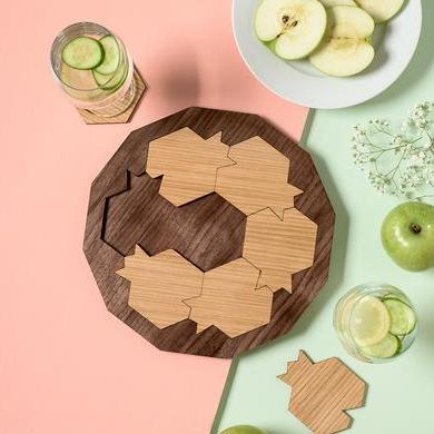 Pomegranate Serving Tray and Coasters - ModernTribe