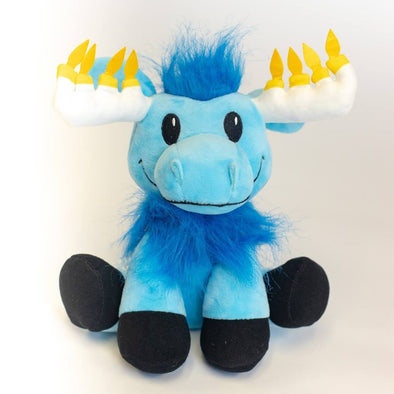 Mensch on a Bench Toy Mitzvah Moose