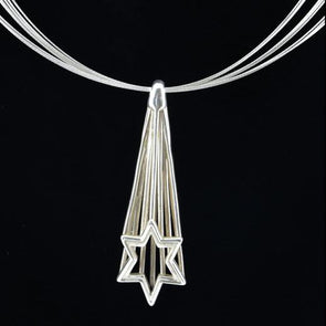 Shooting Star of David Necklace by Joy Stember - ModernTribe - 2