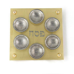 Brass Seder Plate by Joy Stember