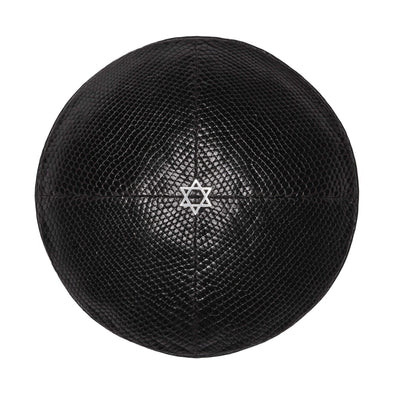 Black Lizard Star of David Kippah - ModernTribe
