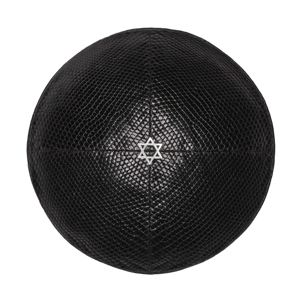 Black Lizard Star of David Kippah