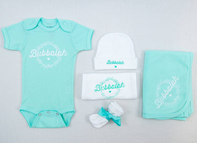 Bubbalah Solid Mint Onesie Set