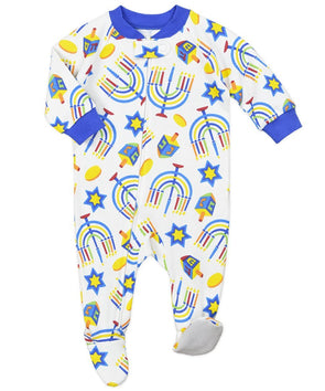Hanukkah Footed Pajamas