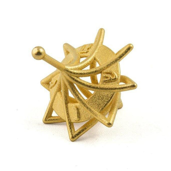 Twisted Gold 3D Printed Dreidel by Joy Stember