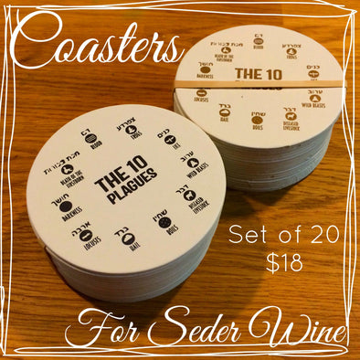 10 Plagues Passover Coasters - Wholesale by Other - ModernTribe - 1