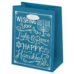 Hanukkah Chalkboard Gift Bag - Small by Waste Not Paper - ModernTribe