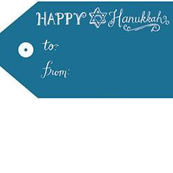 Hanukkah Chalkboard Sticker Tags - Set of 19 by Waste Not Paper - ModernTribe