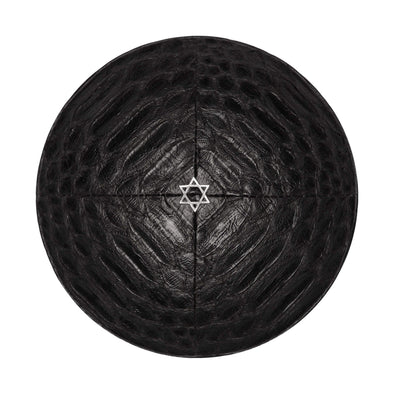Black Python Star of David Kippah