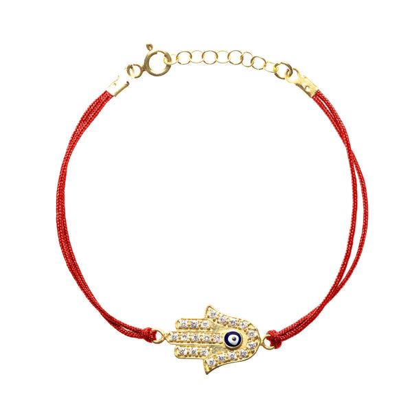 Alef Bet Bracelets Red String Hamsa Lucky Protection Bracelet