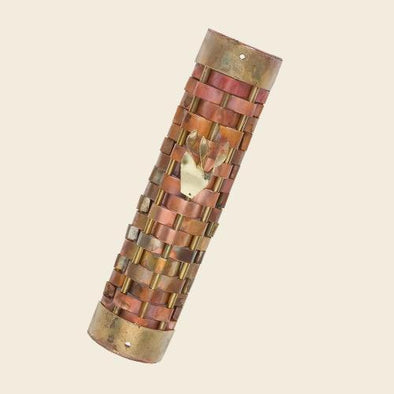 Woven Copper Mezuzah by Gary Rosenthal - (Choice of Colors)