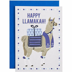 Happy Llamakah Greeting Cards - Box of 10 Cards by Waste Not Paper - ModernTribe