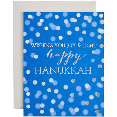 Hanukkah Confetti Foil Greeting Cards - Box of 10 Cards by Waste Not Paper - ModernTribe