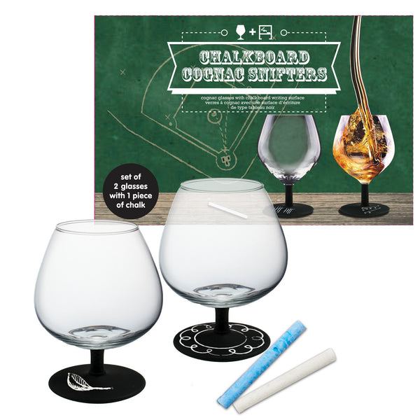 Decor Craft Wine Glasses Chalkboard Cognac Snifter Glasses