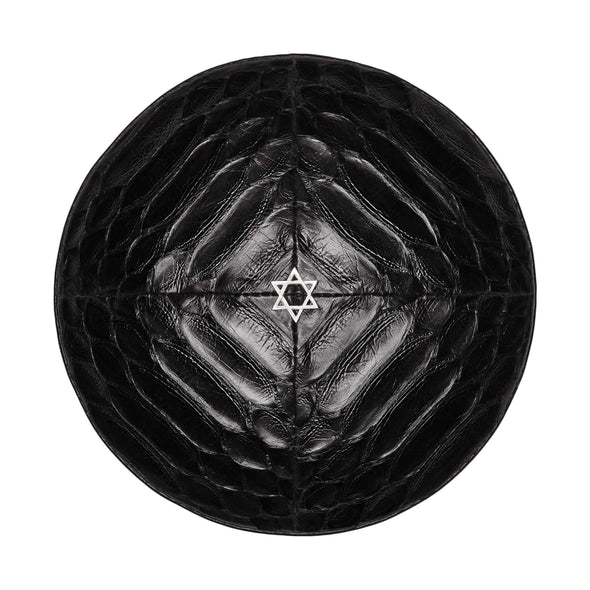 Black Python Star of David Kippah - ModernTribe