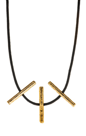 Four Toggle Necklace in Bronze by Marla Studio by Marla Studio - ModernTribe - 1