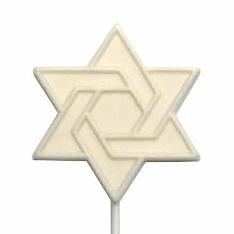 White Chocolate Star of David Lollipop - ModernTribe