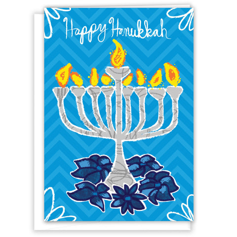 Happy Hanukkah Greeting Card by Paper Loop - ModernTribe