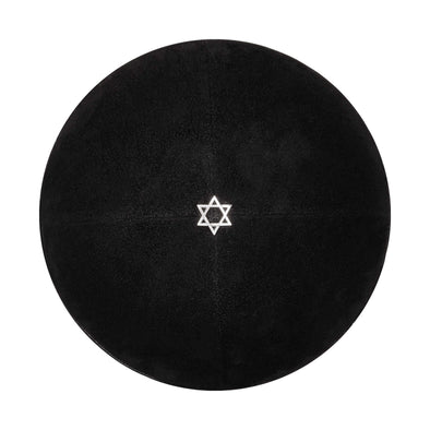 Black Suede Star of David Kippah - ModernTribe