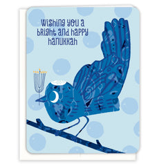 Wishing You a Bright & Happy Hanukkah Card by Paper Loop - ModernTribe
