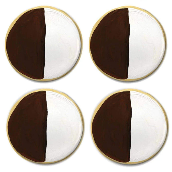 Black and White Cookie Magnet Set