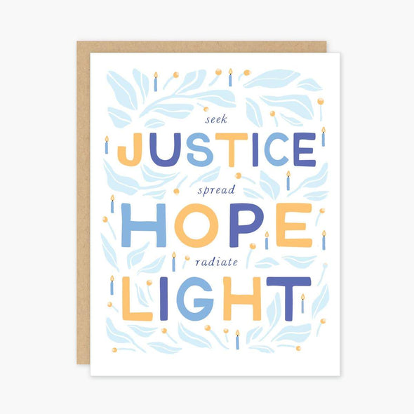 Party of One Cards Justice Hanukkah Cards - Box of 8