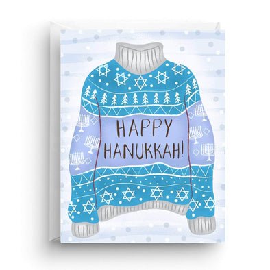 Nicole Marie Paperie Card Happy Hanukkah Ugly Sweater Greeting Cards, Box of 6