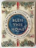 Bless This Home In English Plaque - Original Clay Art by Amir - ModernTribe - 1