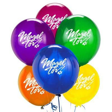 JET Decoration Multicolored Mazel Tov Balloons