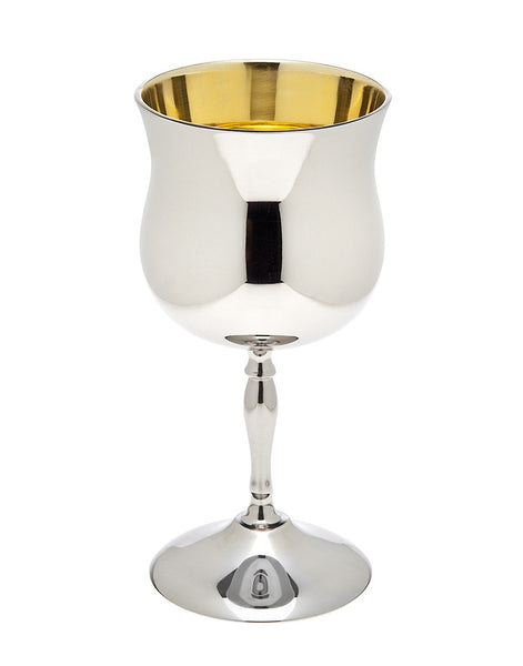 Other Kiddush Cup Silver Plated Brass Kiddush Cup