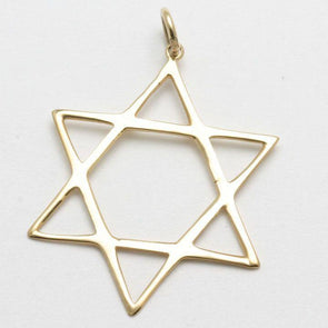Classic 14k Gold or White Gold Star of David Pendant