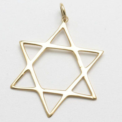 Classic 14k Gold or White Gold Star of David Pendant - ModernTribe