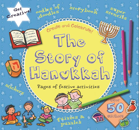 The Story of Hanukkah (Create and Celebrate!) Activity Book - Ages 4 to 7 - ModernTribe