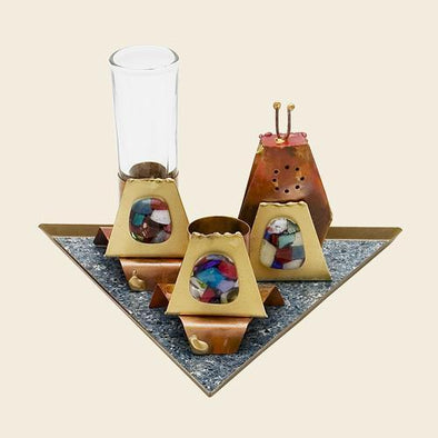 Havdalah Set on Triangular Base by Gary Rosenthal - ModernTribe