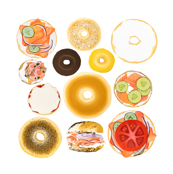All Bagels Welcome Print - ModernTribe