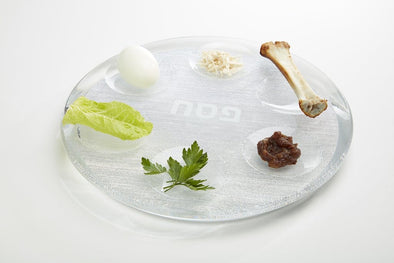 Apeloig Collection Seder Plate Acrylic Seder Plate - Silver or White